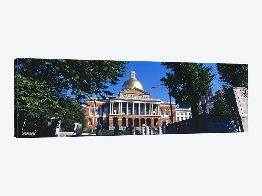 Facade of a government building, Massachusetts State Capitol, Boston, Suffolk County, Massachusetts, USA by Panoramic Images 1-piece Canvas Wall Art