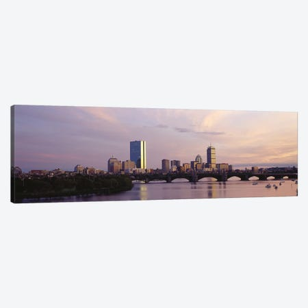 Back Bay Skyline With The Longfellow Bridge And Charles River In The Foreground, Boston, Suffolk County, Massachusetts, USA Canvas Print #PIM7969} by Panoramic Images Canvas Wall Art