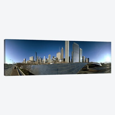 360 degree view of a city, Millennium Park, Jay Pritzker Pavilion, Lake Shore Drive, Chicago, Cook County, Illinois, USA Canvas Print #PIM7975} by Panoramic Images Canvas Art