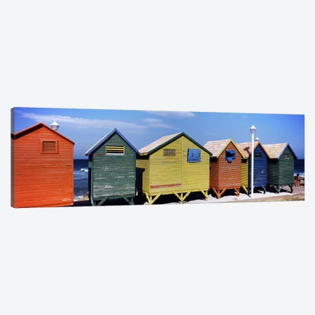 Colorful huts on the beach, St. James Beach, Cape Town, Western Cape Province, South Africa Canvas Print #PIM7979} by Panoramic Images Canvas Print
