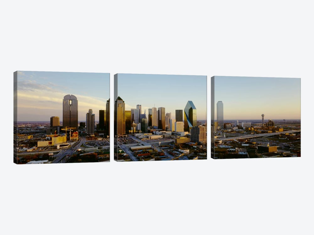 High angle view of buildings in a cityDallas, Texas, USA by Panoramic Images 3-piece Canvas Print