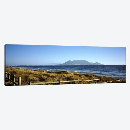 Distant View Of Devil's Peak, Table Mountain And Lion's Head From Bloubergstrand, Western Cape, South Africa Canvas Print #PIM7981} by Panoramic Images Canvas Artwork
