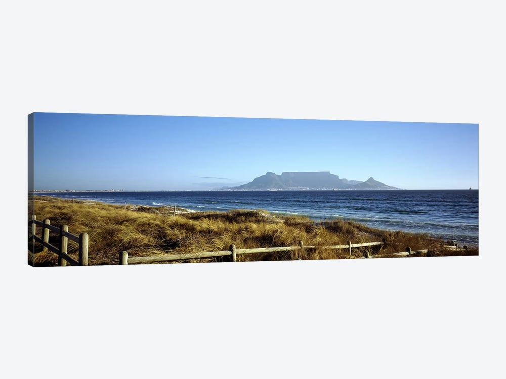 Distant View Of Devil's Peak, Table Mountain And Lion's Head From Bloubergstrand, Western Cape, South Africa by Panoramic Images 1-piece Art Print