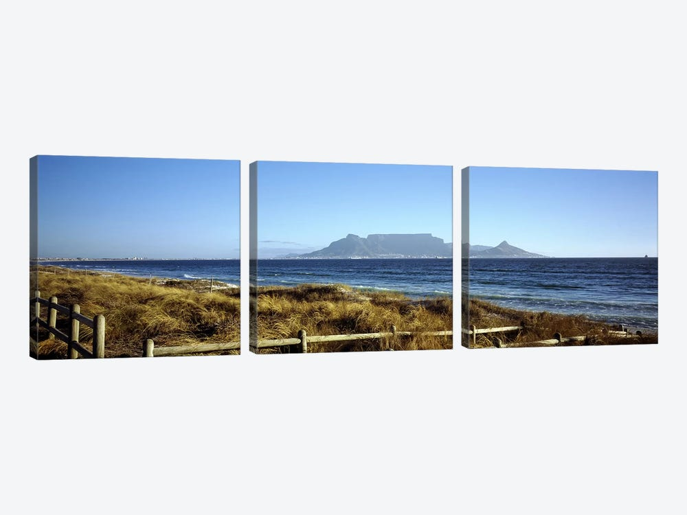 Distant View Of Devil's Peak, Table Mountain And Lion's Head From Bloubergstrand, Western Cape, South Africa by Panoramic Images 3-piece Canvas Art Print