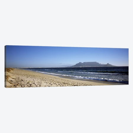 View Of Devil's Peak, Table Mountain And Lion's Head From Bloubergstrand, Western Cape, South Africa Canvas Print #PIM7982} by Panoramic Images Canvas Artwork