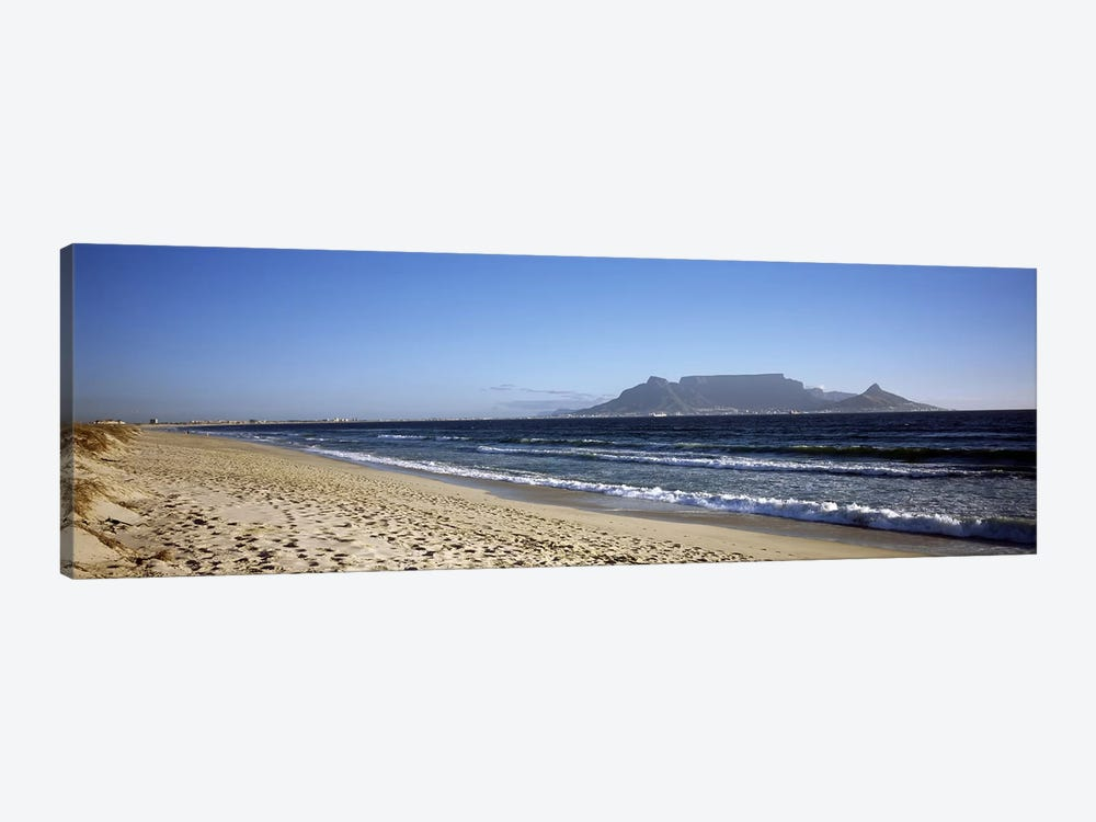 View Of Devil's Peak, Table Mountain And Lion's Head From Bloubergstrand, Western Cape, South Africa by Panoramic Images 1-piece Canvas Wall Art