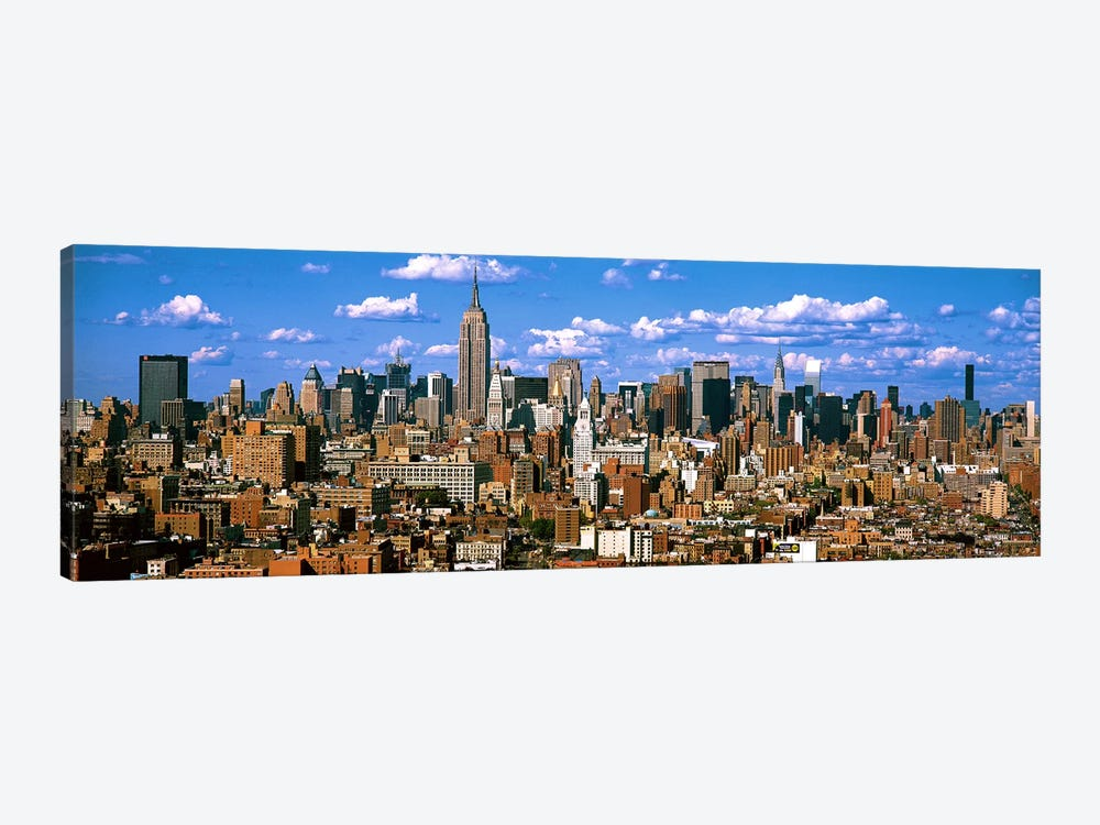 Aerial view of a city, Midtown Manhattan, Manhattan, New York City, New York State, USA by Panoramic Images 1-piece Art Print
