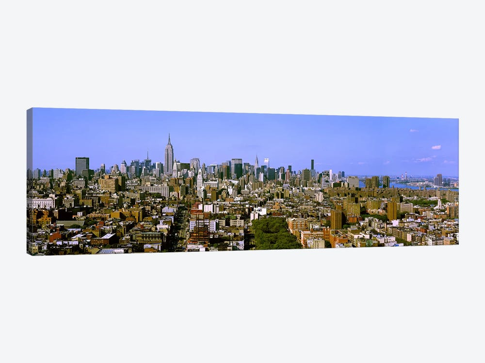 180 degree view of a city, New York City, New York State, USA by Panoramic Images 1-piece Canvas Print