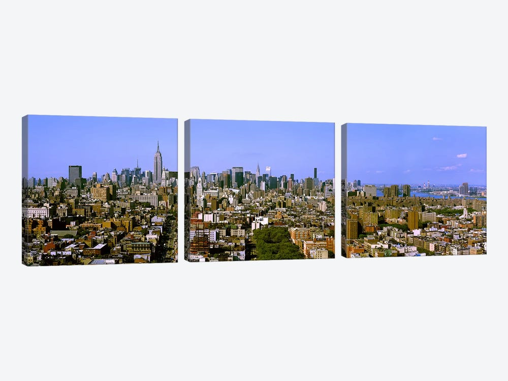 180 degree view of a city, New York City, New York State, USA by Panoramic Images 3-piece Art Print