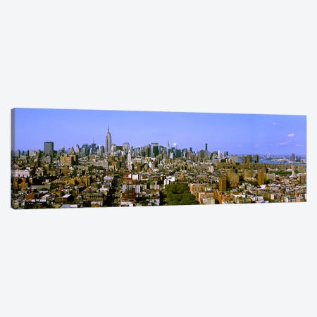 180 degree view of a city, New York City, New York State, USA 3-Piece Canvas #PIM7990} by Panoramic Images Canvas Art Print