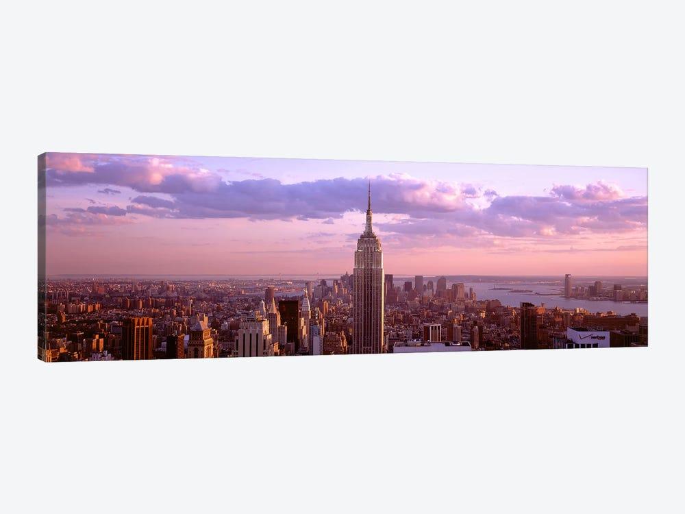 Aerial View Of A City Rockefeller Center Midtown Manhattan Icanvas