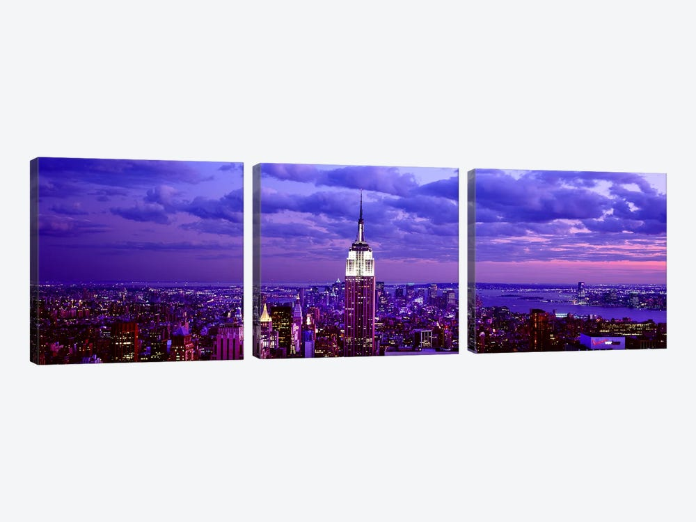 Aerial view of a city, Rockefeller Center, Midtown Manhattan, Manhattan, New York City, New York State, USA #2 by Panoramic Images 3-piece Canvas Art Print