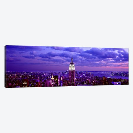 Aerial view of a city, Rockefeller Center, Midtown Manhattan, Manhattan, New York City, New York State, USA #2 Canvas Print #PIM7992} by Panoramic Images Art Print
