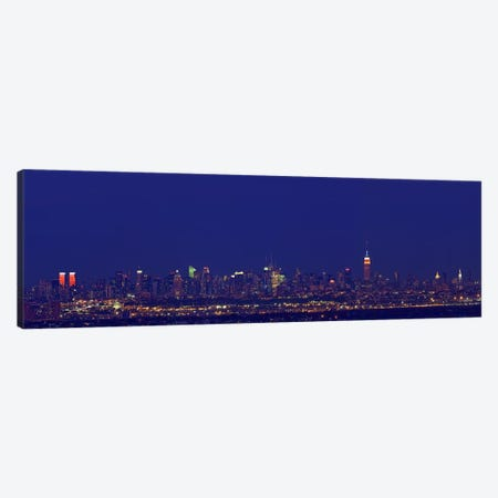 Buildings in a city lit up at night, New York City, New York State, USA Canvas Print #PIM7994} by Panoramic Images Canvas Art