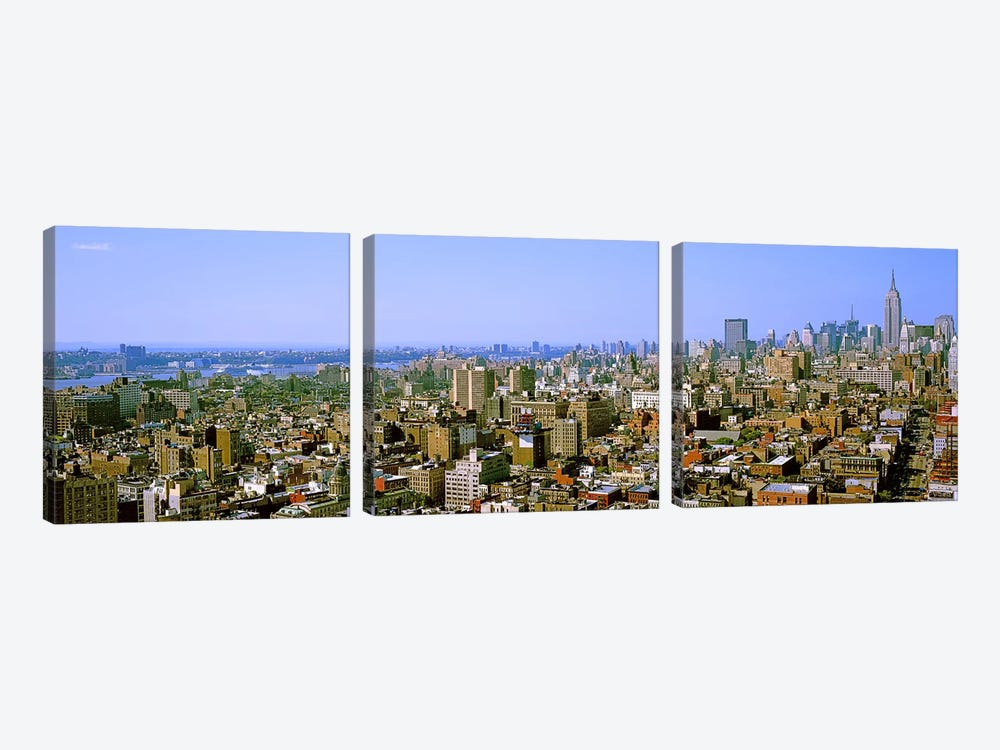 Aerial view of a city, New York City, New York State, USA #4 by Panoramic Images 3-piece Canvas Wall Art