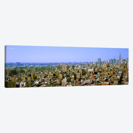 Aerial view of a city, New York City, New York State, USA #4 3-Piece Canvas #PIM7995} by Panoramic Images Canvas Artwork
