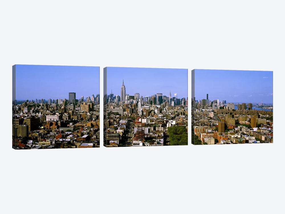 Aerial view of a city, New York City, New York State, USA #5 by Panoramic Images 3-piece Art Print