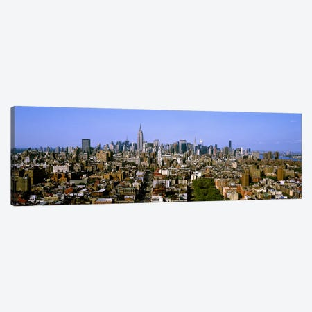 Aerial view of a city, New York City, New York State, USA #5 3-Piece Canvas #PIM7996} by Panoramic Images Canvas Wall Art