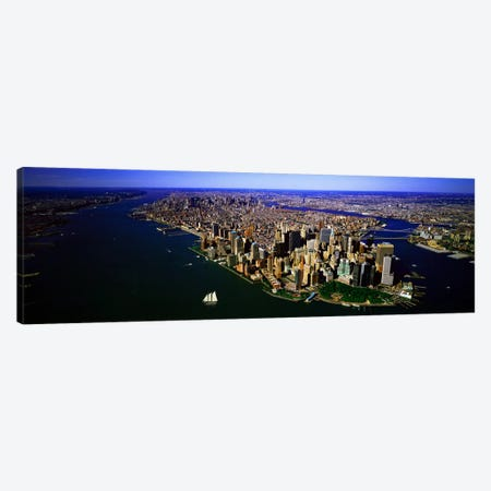 Aerial view of a city, New York City, New York State, USA #6 Canvas Print #PIM7998} by Panoramic Images Canvas Art Print