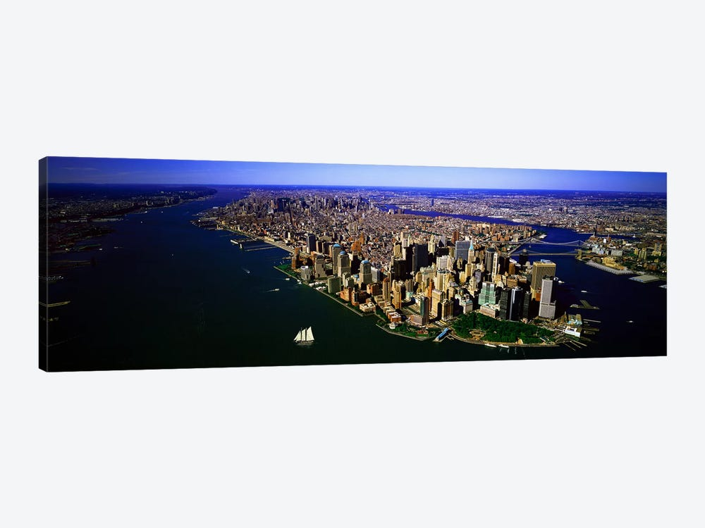 Aerial view of a city, New York City, New York State, USA #6 by Panoramic Images 1-piece Canvas Art Print