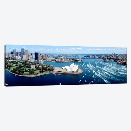 Australia, Sydney, aerial  Canvas Print #PIM7} by Panoramic Images Canvas Art Print