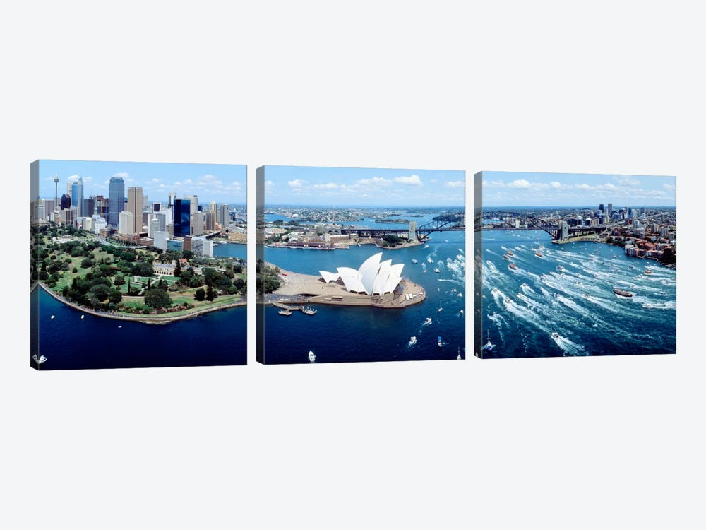 Australia, Sydney, aerial  by Panoramic Images 3-piece Canvas Print