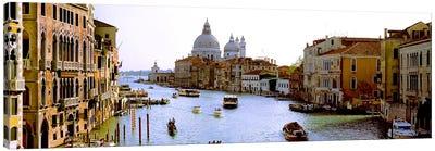 Boats in a canal with a church in the backgroundSanta Maria della Salute, Grand Canal, Venice, Veneto, Italy Canvas Print #PIM8000