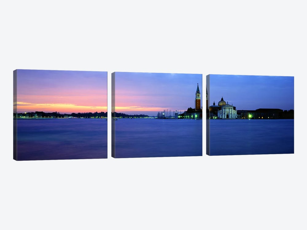 Church at the waterfront, Redentore Church, Giudecca, Venice, Veneto, Italy by Panoramic Images 3-piece Canvas Print