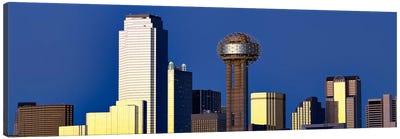 Skyscrapers in a city, Reunion Tower, Dallas, Texas, USA Canvas Art Print