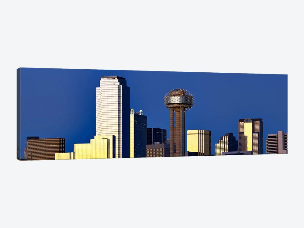 Skyscrapers in a city, Reunion Tower, Dallas, Texas, USA by Panoramic Images 1-piece Canvas Print
