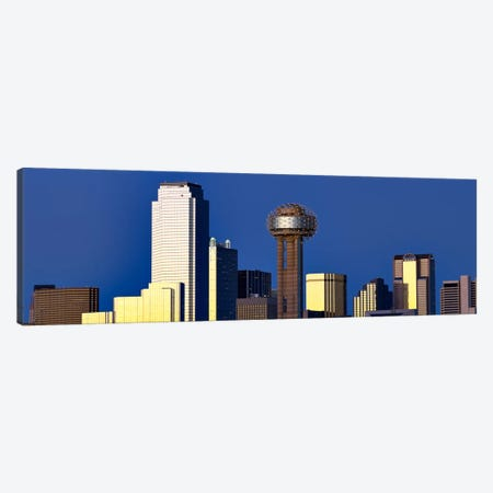 Skyscrapers in a city, Reunion Tower, Dallas, Texas, USA Canvas Print #PIM8011} by Panoramic Images Canvas Wall Art