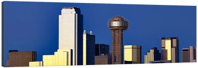 Skyscrapers in a city, Reunion Tower, Dallas, Texas, USA Canvas Art Print