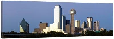 Skyscrapers in a city, Reunion Tower, Dallas, Texas, USA #2 Canvas Art Print