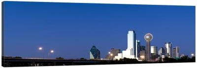 Skyscrapers in a city, Reunion Tower, Dallas, Texas, USA #3 Canvas Art Print