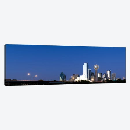 Skyscrapers in a city, Reunion Tower, Dallas, Texas, USA #3 Canvas Print #PIM8013} by Panoramic Images Canvas Artwork