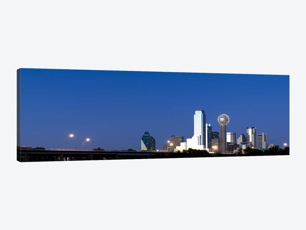 Skyscrapers in a city, Reunion Tower, Dallas, Texas, USA #3 by Panoramic Images 1-piece Canvas Print