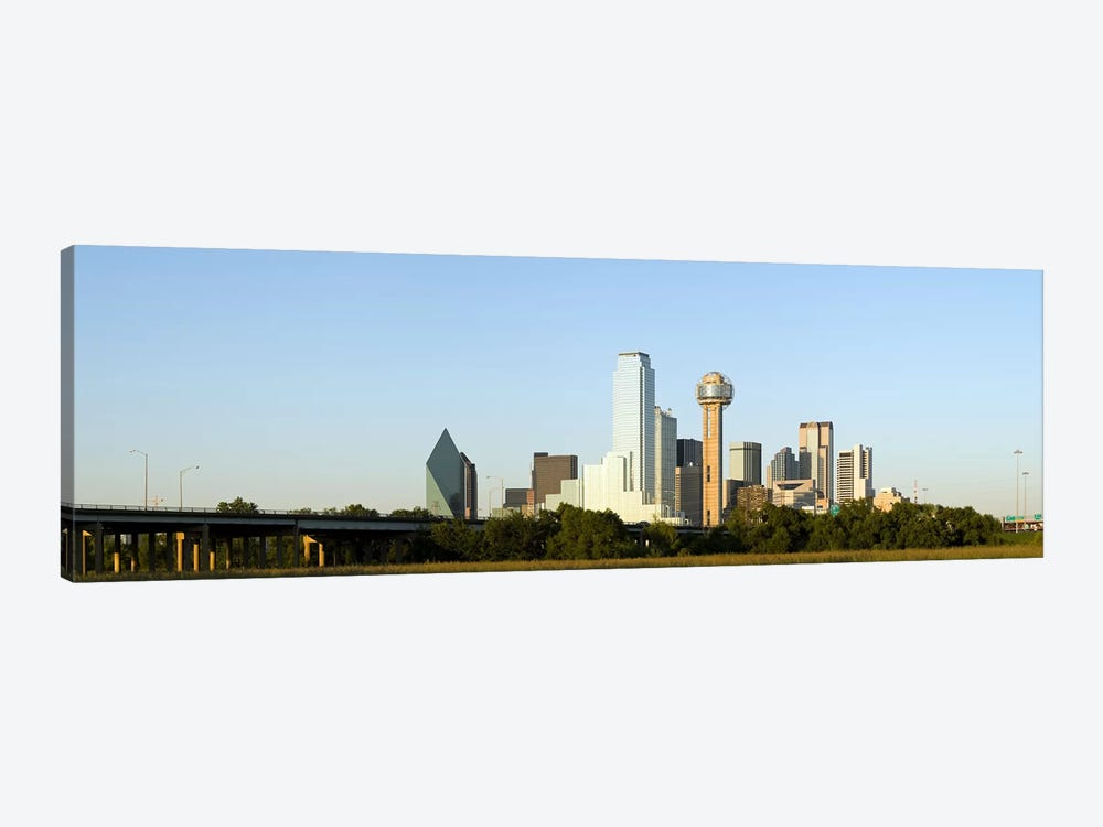 Skyscrapers in a city, Reunion Tower, Dallas, Texas, USA #4 by Panoramic Images 1-piece Canvas Wall Art