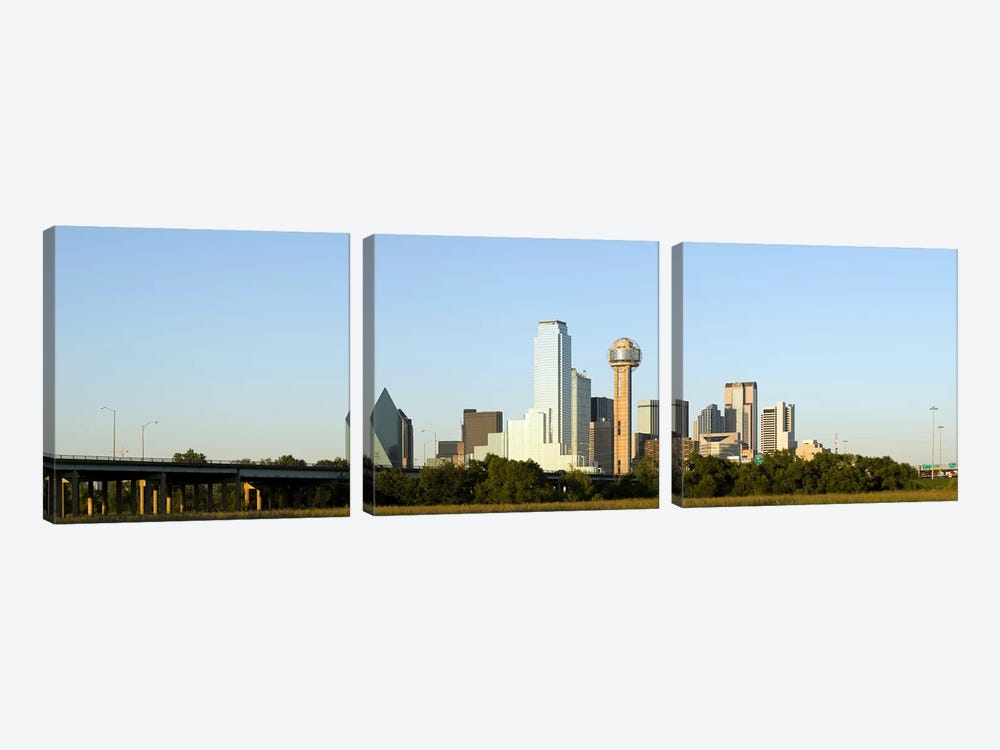 Skyscrapers in a city, Reunion Tower, Dallas, Texas, USA #4 by Panoramic Images 3-piece Canvas Wall Art