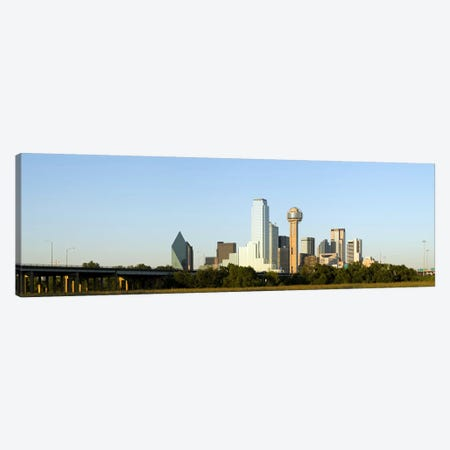Skyscrapers in a city, Reunion Tower, Dallas, Texas, USA #4 3-Piece Canvas #PIM8014} by Panoramic Images Canvas Art Print