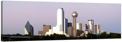 Skyscrapers in a city, Reunion Tower, Dallas, Texas, USA #5 Canvas Art Print