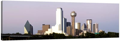 Skyscrapers in a city, Reunion Tower, Dallas, Texas, USA #5 Canvas Art Print