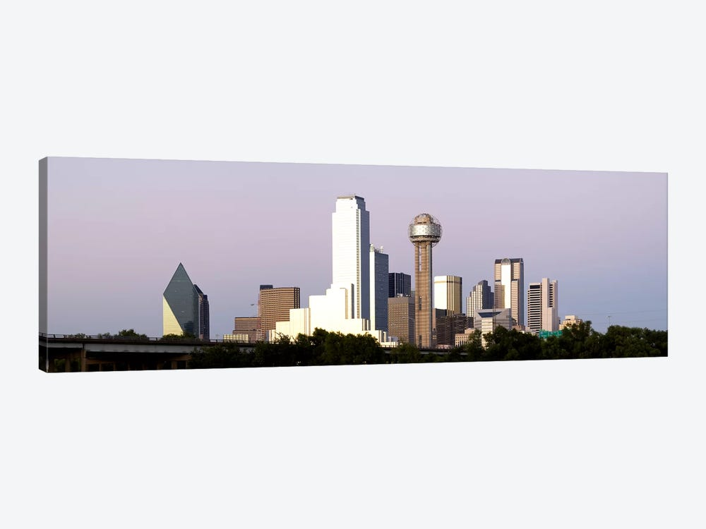 Skyscrapers in a city, Reunion Tower, Dallas, Texas, USA #5 by Panoramic Images 1-piece Canvas Art Print