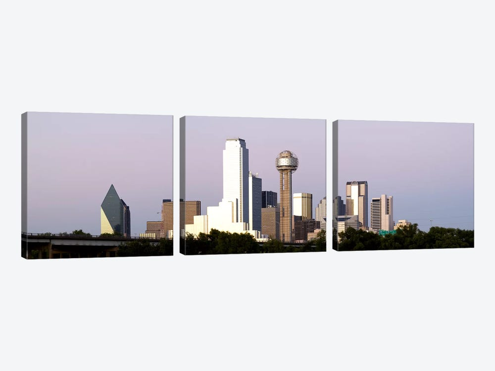 Skyscrapers in a city, Reunion Tower, Dallas, Texas, USA #5 by Panoramic Images 3-piece Canvas Art Print