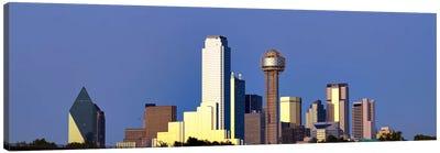 Skyscrapers in a city, Reunion Tower, Dallas, Texas, USA #6 Canvas Art Print