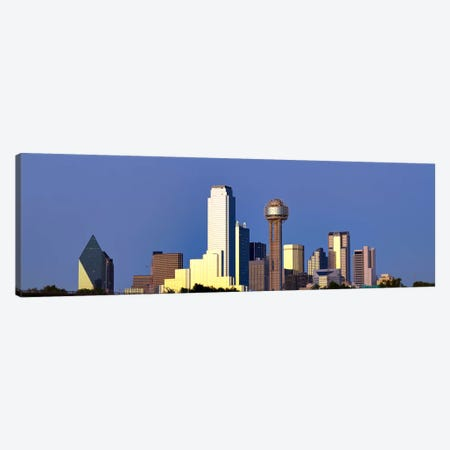 Skyscrapers in a city, Reunion Tower, Dallas, Texas, USA #6 Canvas Print #PIM8016} by Panoramic Images Canvas Art Print