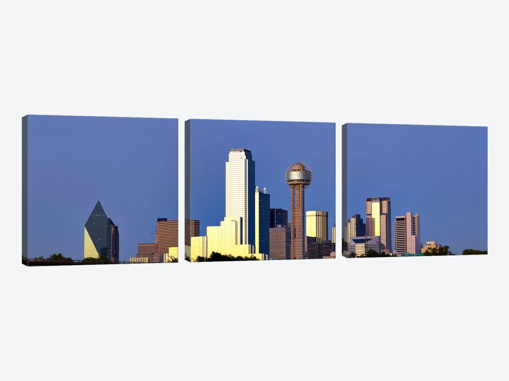Skyscrapers in a city, Reunion Tower, Dallas, Texas, USA #6 by Panoramic Images 3-piece Canvas Wall Art