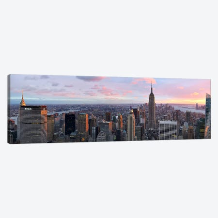 Aerial view of a city, Midtown Manhattan, Manhattan, New York City, New York State, USA #2 Canvas Print #PIM8018} by Panoramic Images Canvas Wall Art