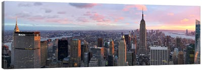 Aerial view of a city, Midtown Manhattan, Manhattan, New York City, New York State, USA #2 Canvas Art Print