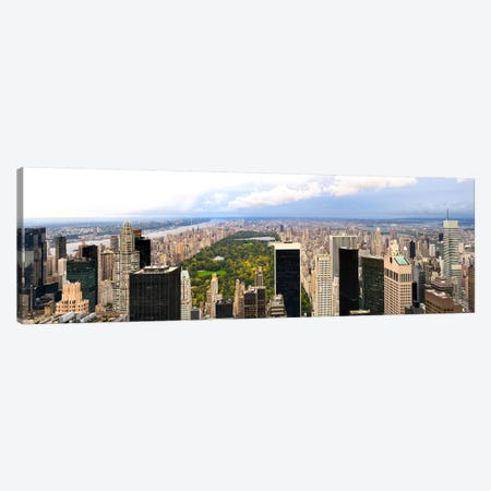 Aerial view of a city, Central Park, Upper Manhattan, Manhattan, New York City, New York State, USA Canvas Print #PIM8019} by Panoramic Images Canvas Art
