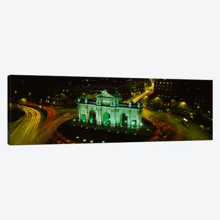 High-Angle View Of Puerta de Alcala, Plaza de la Independencia, Madrid, Spain Canvas Print #PIM801} by Panoramic Images Canvas Artwork